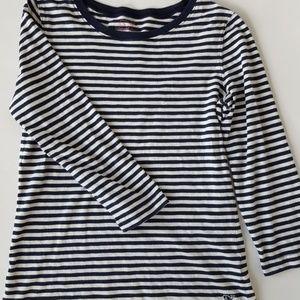 Vineyard Vines Navy White 3/4 Sleeve Shirt Small